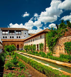 Jardín de Alhambra Imagenes de archivo