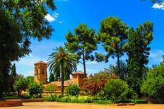 Jardín de Alhambra en Granada, España Imágenes de archivo libres de regalías