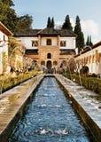 Jardín de Alhambra, España Foto de archivo