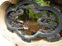 Jardín de bambú ocultado foto de archivo libre de regalías