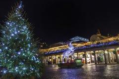 Jardín de Covent en la Navidad Imágenes de archivo libres de regalías