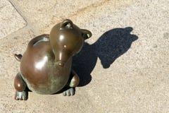 Jardín de Culpture, con las esculturas de Tom Otterness americano Foto de archivo libre de regalías