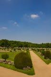 Jardín de Diane de Poitiers - castillo de Chenonceau fotografía de archivo libre de regalías
