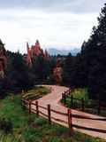 Jardín de dioses en Colorado Fotos de archivo