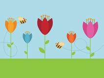 Jardín de flor stock de ilustración