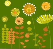 Jardín de flor abstracto con background-1 verde Imagen de archivo libre de regalías