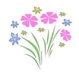 Jardín de flor en colores pastel Fotos de archivo libres de regalías