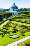 Jardín de flores de Kromeriz Foto de archivo