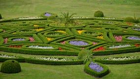 Jardín de flores en Kromeriz, República Checa Foto de archivo libre de regalías