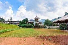 Jardín de flores en la estación agrícola real Angkhang Imagen de archivo
