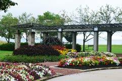 Jardín de flores, parque de Eichelman, Kenosha, Wisconsin imagen de archivo libre de regalías