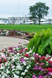 Jardín de flores, parque de Eichelman, Kenosha, Wisconsin foto de archivo libre de regalías