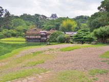Jardín de Genkyuen en Hikone, Japón Fotografía de archivo
