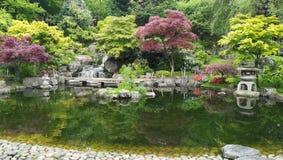 Jardín de Kyoto en el centro del parque de Holanda, Londres fotografía de archivo libre de regalías