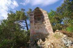 Jardín de la abadía del fontfroide Fotografía de archivo