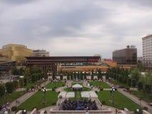 jardín de la alameda de los palas en Iasi imagen de archivo