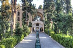 Jardín de la aleta en Kashan, Irán fotografía de archivo libre de regalías