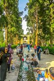 Jardín 02 de la aleta de Kashan imagen de archivo