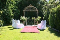 Jardín de la boda Fotos de archivo libres de regalías