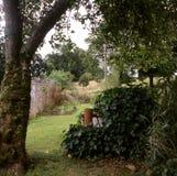 Jardín de la cabaña del país (formato medio) fotografía de archivo