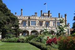 Jardín de la casa del gobierno en Sydney fotografía de archivo