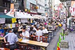 Jardín de la cerveza de Shinjuku Foto de archivo libre de regalías