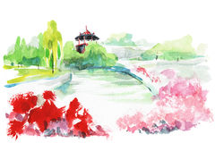 Jardín de la ciudad libre illustration