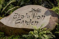 Jardín de la evolución en Singapur Fotos de archivo libres de regalías
