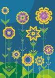 Jardín de la flor, vector Ilustración del Vector