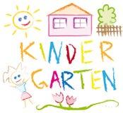 Jardín de la infancia stock de ilustración