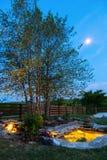 Jardín de la noche Fotografía de archivo