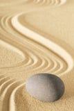 Jardín de la piedra de la arena del zen Foto de archivo libre de regalías