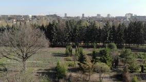 Jardín de la primavera en la ciudad metrajes