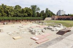 Jardín de la ruina en Szekesfehervar, Hungría Foto de archivo