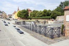Jardín de la ruina en Szekesfehervar, Hungría Imagen de archivo