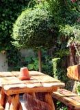 Jardín de la terraza fotos de archivo libres de regalías