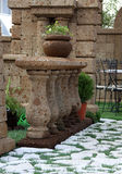 Jardín de la terraza imagenes de archivo