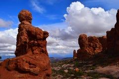 Jardín de las esculturas de Eden en el parque nacional Utah de los arcos Imagen de archivo