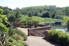 Jardín de Leeds Castle Culpepper en Maidstone, Kent, Inglaterra, Europa Imagen de archivo
