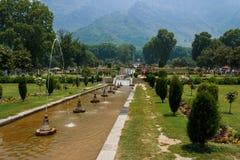 Jardín de Nishat, Srinagar fotos de archivo