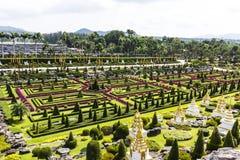 Jardín de Nong Nooch Fotos de archivo libres de regalías