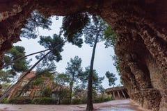 Jardín de Parc Guell Imágenes de archivo libres de regalías