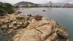 Jardín de piedras en Vietnam, Nha Trang almacen de video