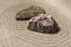 Jardín de roca del zen Foto de archivo libre de regalías