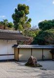 Jardín de roca en Kyoto, Japón Fotos de archivo libres de regalías