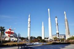 Jardín de Rocket en Centro Espacial Kennedy Fotografía de archivo