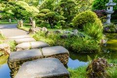 Jardín de té japonés Fotos de archivo libres de regalías