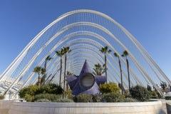 Jardín de Umbracle, ciudad de artes y ciencias foto de archivo