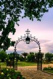 Jardín de un castillo francés de Burdeos Fotos de archivo libres de regalías