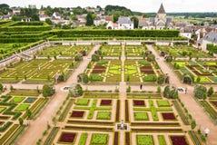 Jardín de Villandry del castillo francés Imagenes de archivo